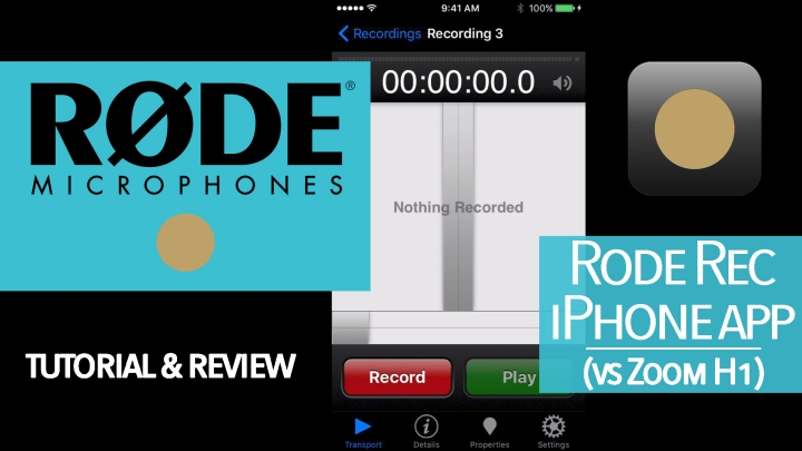 Rode Rec iPhone App Tutorial (vs. Zoom H1)